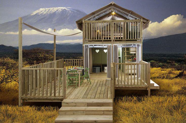 De Lodge tenten in een unieke omgeving die zich vermengen met de omgeving