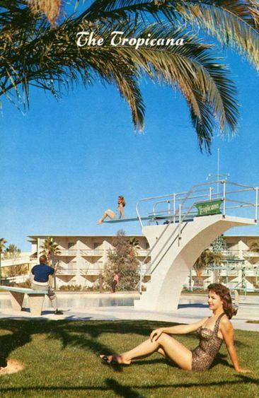 HISTORIC LAS VEGAS:  The Tropicana Hotel, ca. mid-1950's.