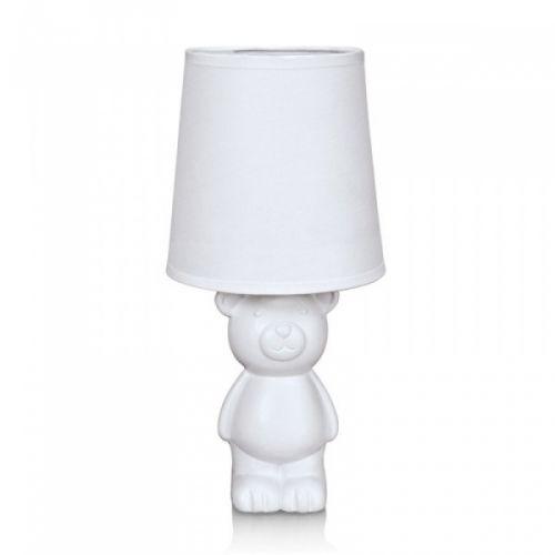 Bear bordlampe fra Marksløjd med fot av hvit keramikk formet som en bamse. Hvit tekstilskjerm.1,5 meter hvit tekstilkabel Diamter: 14 cm Høyde: 29,5 cmSokkel: E14Max 40W Anbefalt lyskilde: (Medfølger ikke)