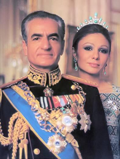 Royal Family of Iran Mohamed Reza Pahlavi and his wife Farah