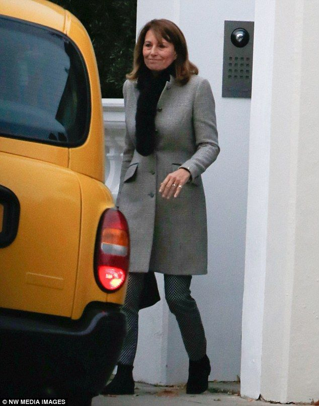 Mother of the bride Carole Middleton was also present for the meeting with Deacon...