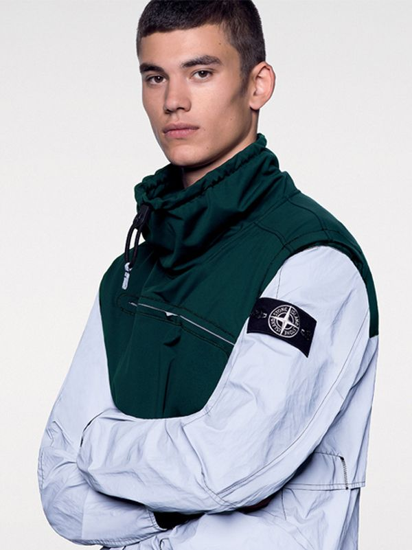 Stone Island SS'018_ 44999 Garment Dyed Plated Reflective With NY Jersey-R on stoneisland.com