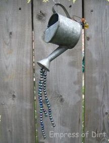 Watering Can Garden - love the beads representing water ♥