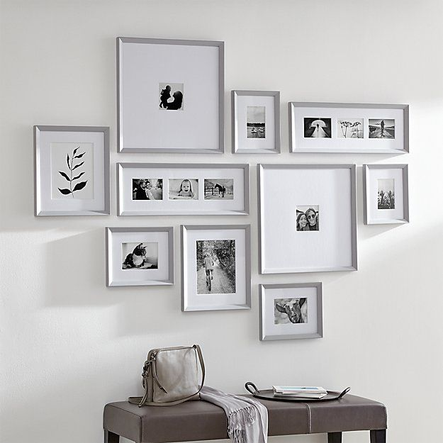 Icon 11x11 Black Picture Frame Reviews Crate And Barrel Gallery Frame Frames On Wall Gallery Wall Frames