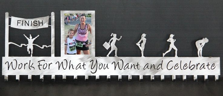 Running Medal Holder: Personalized: Running Medals Display