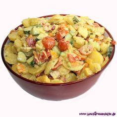 bunter Kartoffelsalat ohne Mayo das Rezept für unseren bunten, vegetarischen Kartoffelsalat ohne Mayo vegetarisch glutenfrei ohne Mayo!
