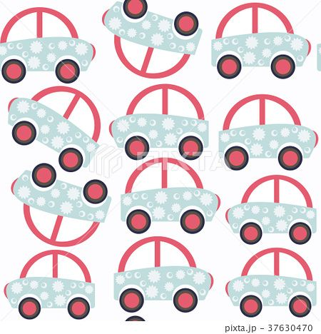 Abstract car child seamless pattern.