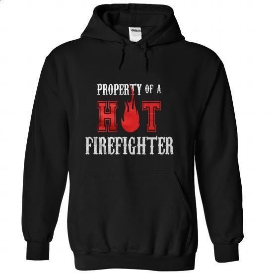 Firefighter PROPERTY-OF-A-HOT-FIREFIGHTER - design t shirts #tee design #sweatshirt kids
