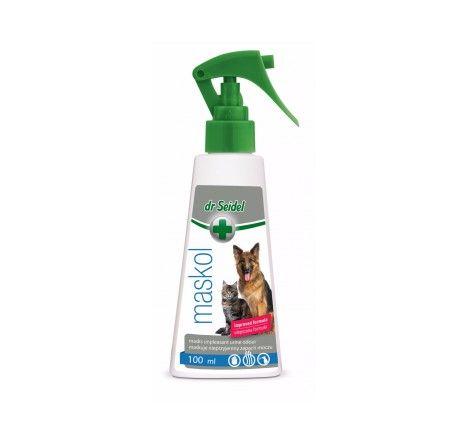 dr Seidel Maskol. MASKOL skutecznie maskuje nieprzyjemne zapachy pozostawiane przez zwierzęta (w tym zapach moczu). Przeznaczony do używania na podłogach, dywanach i meblach.