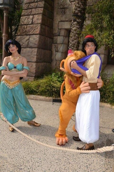 So cute: Jasmine, Abu, and Aladdin.