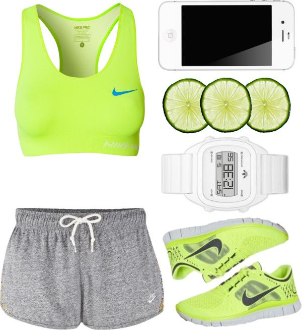 Lime workout outfit