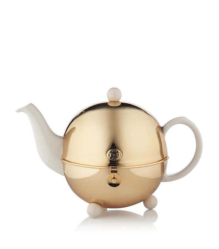 18k Gold Design Teapot with Filter and Warmer TWG Tea  £328