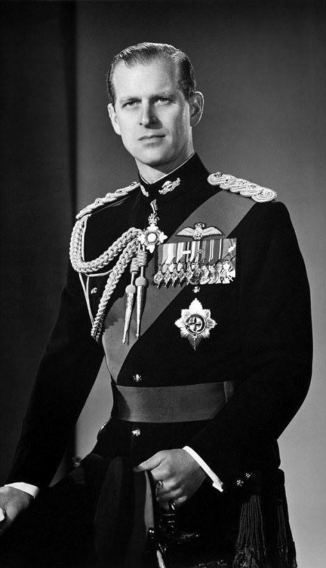 Prince Philip, Duke of Edinburgh in his regalia in 1958