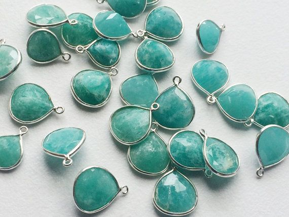 5 Pcs Amazonite Connectors Amazonite Faceted by gemsforjewels