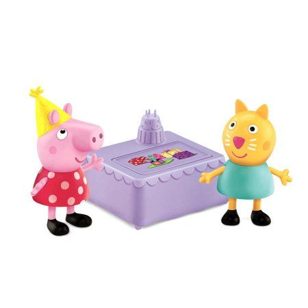 Peppa Pip Peppa and Candy Cat Birthday Party Figures Pack, Assorted