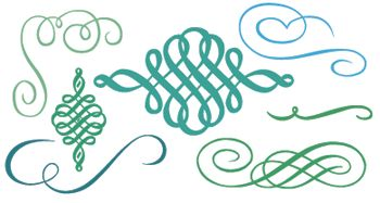 free calligraphic ornaments: nymphette by lauren thompson via http://www.dafont.com/nymphette.font