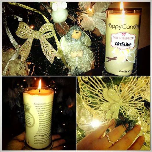 Seems that Catalina loves her new candle and her new ring! :)