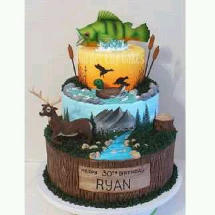 Hunting And Fishing Cakes 1000 Ideas About Fisherman Cake On Pinterest