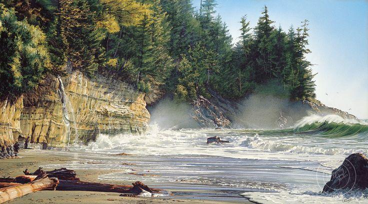 Mystic Beach — Watercolors by Carol Evans