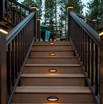 timbertech reliaboard cedar radiancerail kona on awesome deck patio outdoor lighting ideas that lighten up your space id=33543