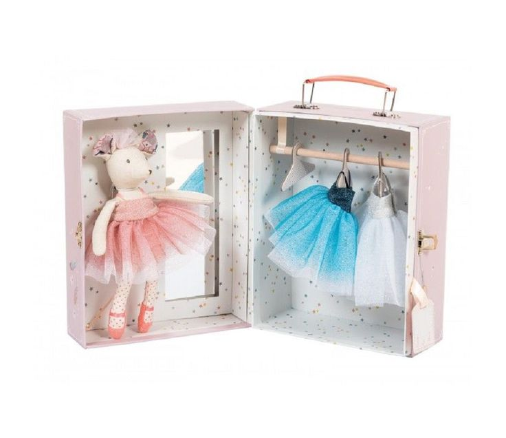 Ballerina mus i koffert - Moulin Roty