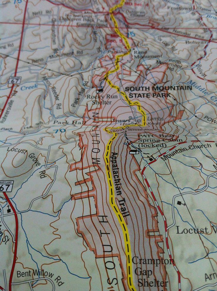 Maryland Appalachian Trail The 82 best Maps