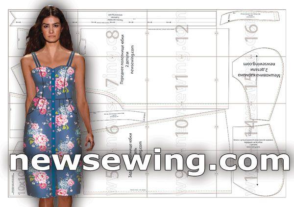 Готовая выкройка летнего сарафана в трех размерах Хит летнего сезона - сарафан. Для тех, кто шьет, предлагаем готовую выкройку летнего сарафана в натуральную величину. Прекрасная мобильная модель сарафана подойдет для отдыха на пляже, для вечерней прогулки, для похода в кино и пр. Для пошива подбирайте легкие ткани. Сегодня в моде пестрые принты с цветочным рисунком, для лета такая ткань более чем уместна. Также для этой модели стоит рассмотреть ткани с монохромными принтами.