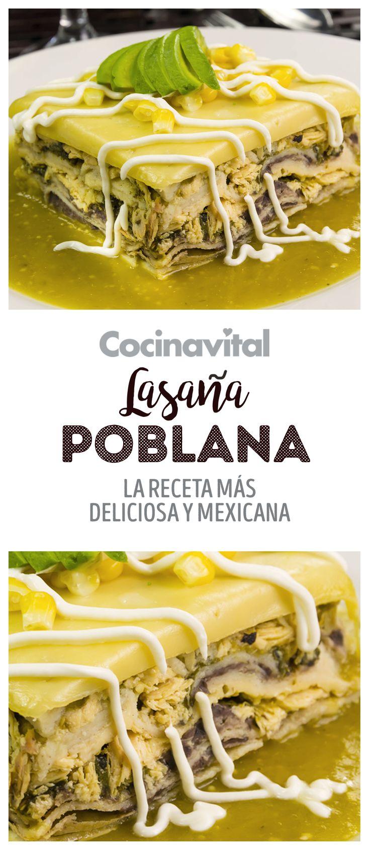 Prueba un clásico de la cocina italiana con un toque totalmente mexicano, así es esta fácil receta de Lasaña de pollo con rajas de chile poblano y elotes
