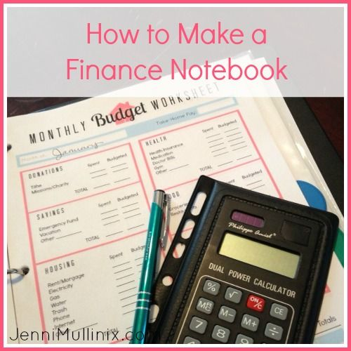 """""""How to Create a Budgeting Notebook (with Printable)"""" Love the Printables! A great way to motivate yourself to getting on top of your finances - MilitaryAvenue.com"""