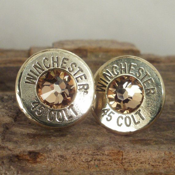 Bullet  Earrings   Stud Earrings  Ultra Thin  Colt by ShellsNStuff, $14.99
