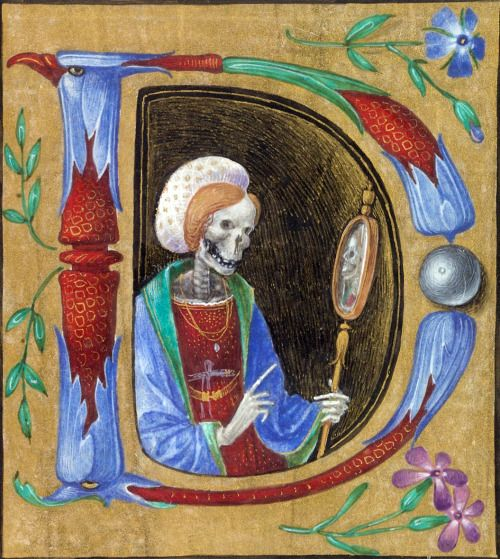 selfie stick book of hours, Italy ca. 1480 BL, Yates Thompson 7, fol. 174r