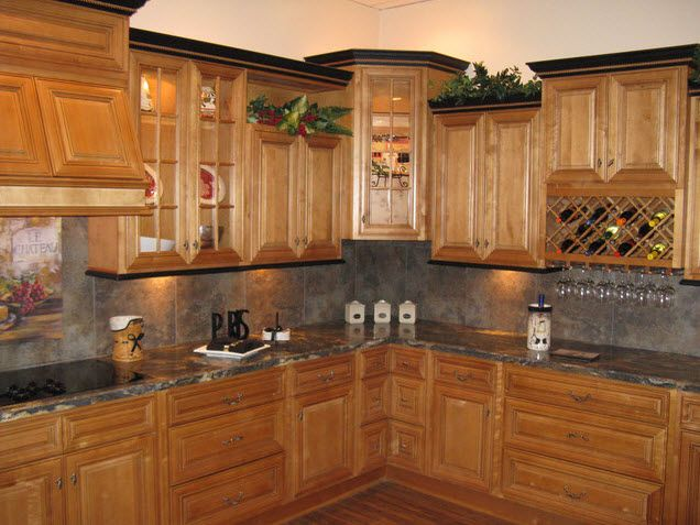 Contrasting Color Kitchen Cabinets