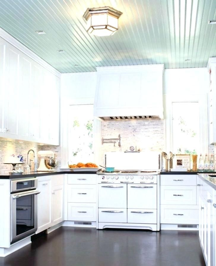 Beadboard Ceiling Kitchen Bathroom Remodel Subway Tile Pottery Barn Cottage Wall Ideas Floor To