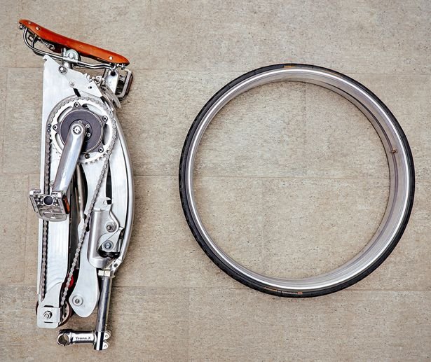 Sada Spokeless, Foldable Bike by Gianluca Sada