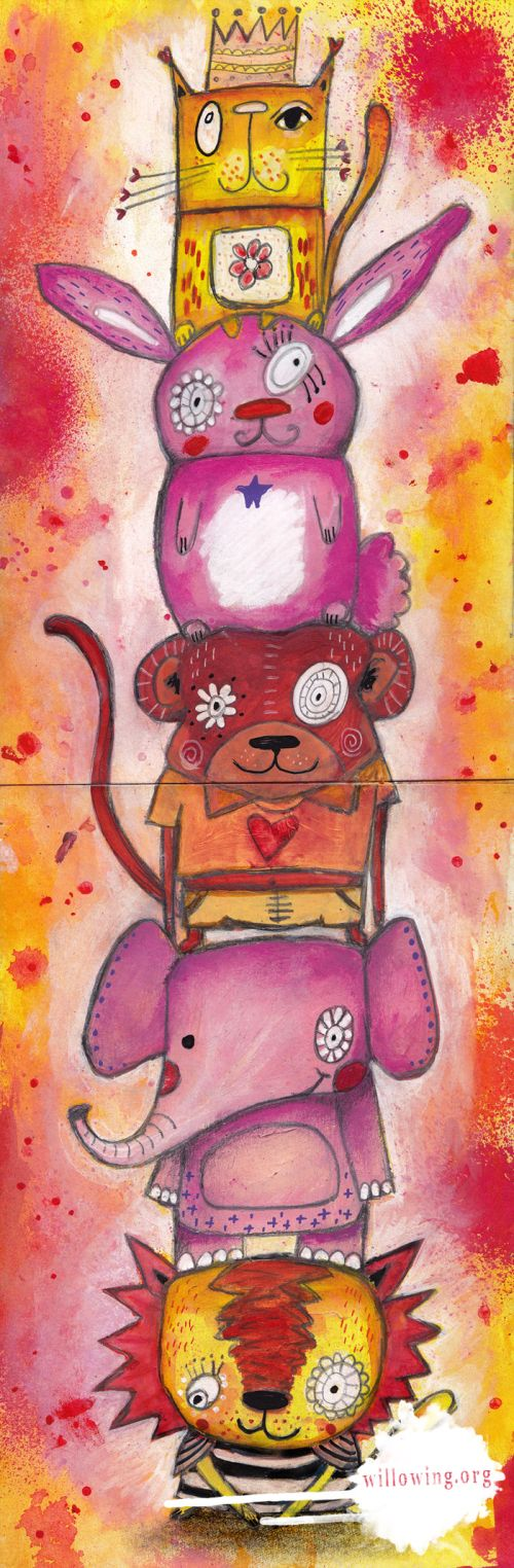 Life Book 2014 - Week 15 - Quirky Animals with Tam - willowing & friends