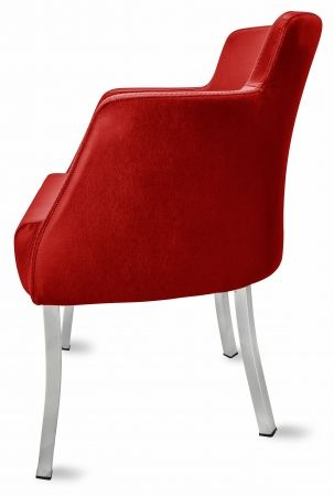 Gastro Stuhl Sessel PRIMO rot-Möbel-Star