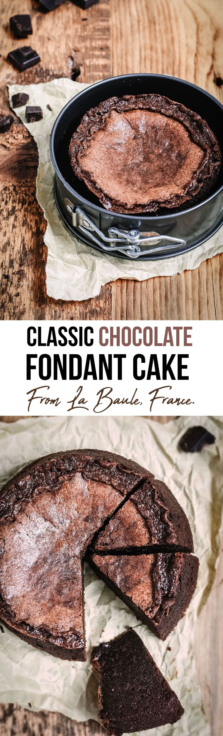 Chocolate Fondant Cake from La Baule, France - A decadent chocolate cake with delicate notes of caramel. Its recipe has been kept secret from its maker for years... you have to try it!