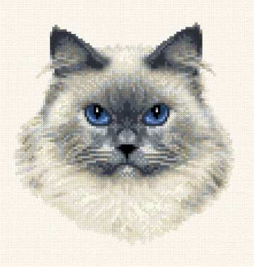 Himalayan - cross stitch pattern designed by Marv Schier. Category: Cats.