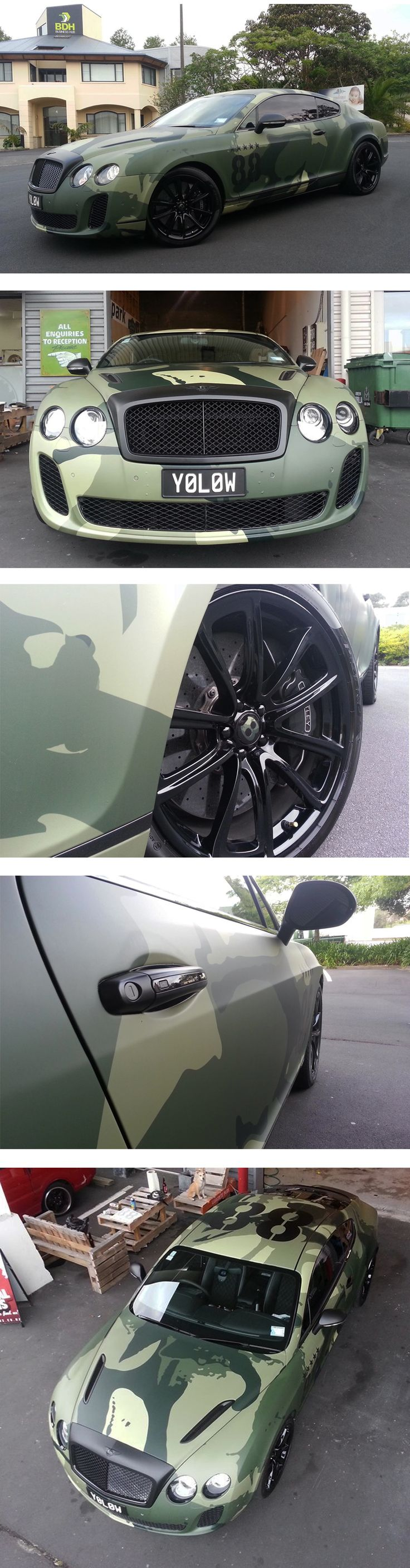 "2010 #Bentley Continental Supersport Full #Digital ""Camo"" Wrap + Matte Finish #Signage #Carwraps #Auckland"