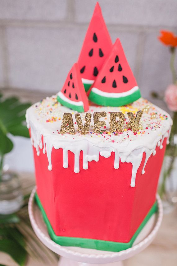 Watermelon 1st birthday party | 100 Layer Cakelet | Bloglovin'