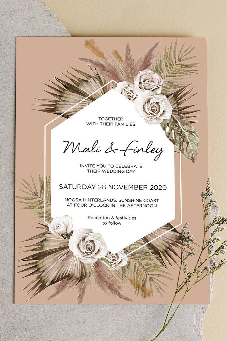 Pin On Boho Wedding Invitations