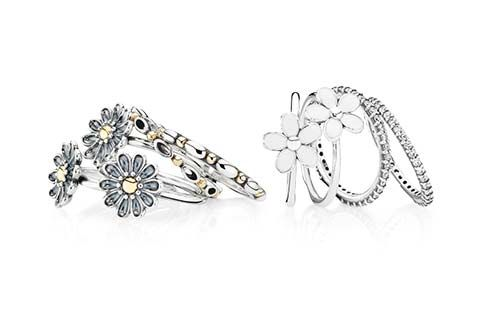 Amazing new flower rings from the new PANDORA Spring 2014 collection. #PANDORAring #SpringCollection #SS14