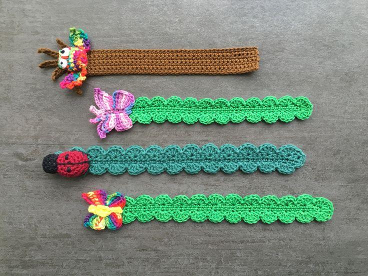 Virkade bokmärke Crochet bookmark