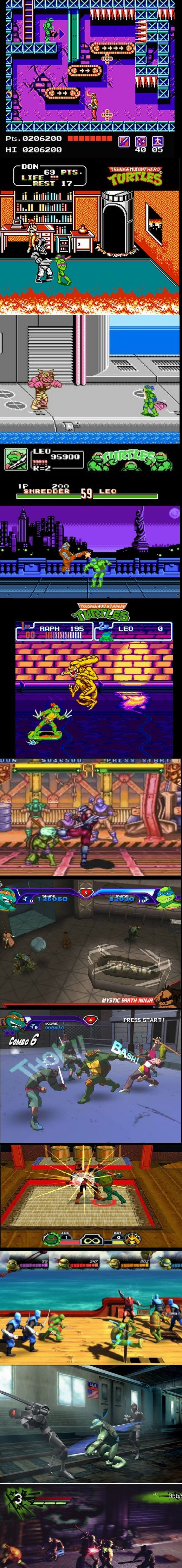 TMNT video games through the years #TMNT #NinjaTurtles #TeenageMutantNinjaTurtles