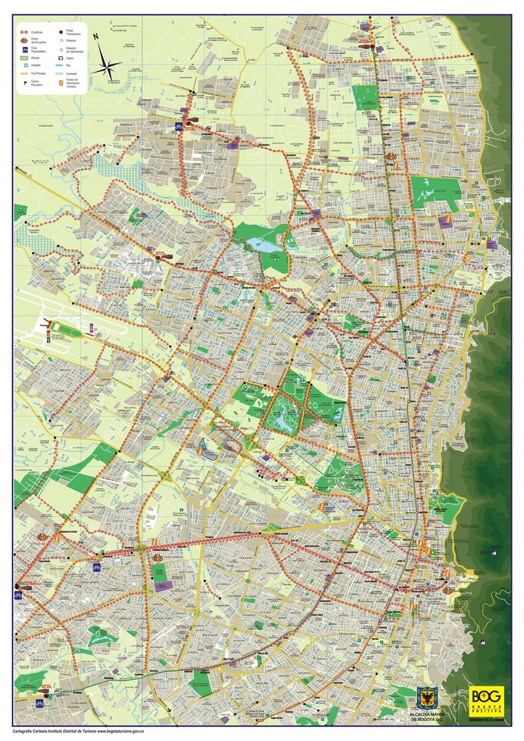 map of bogota,colombia the capital of colombia