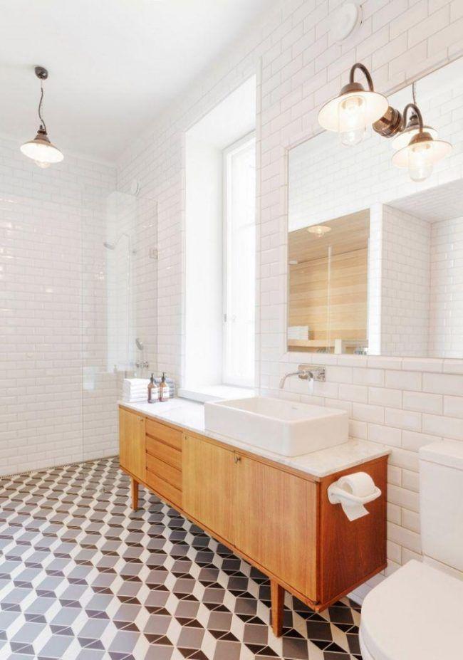 Die besten 25+ Vintage Badezimmerfliesen Ideen auf Pinterest - fliesen bad wei