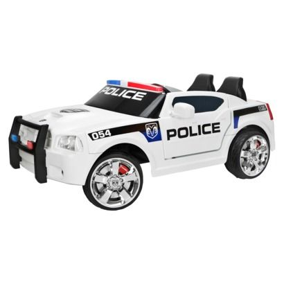 kid trax white dodge charger police car 12v ride onstylespaceandstuff