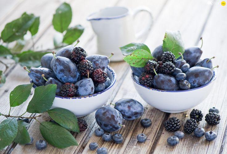 DBZ, Leaf, Bowls, fruits
