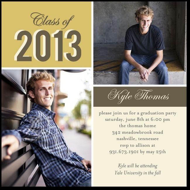49 best invitations open house graduates images on pinterest for Graduation open house invitation