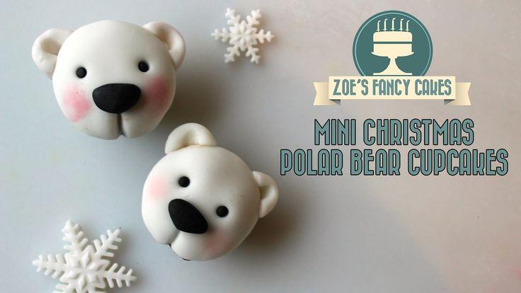 Polar bear cupcakes Christmas cake decorating tutorial how to make polar bear cupcakes .
